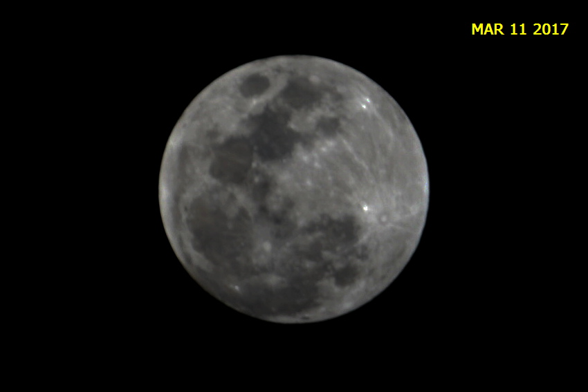 The Many Moons of March Eleventh Two Thousand and Seventeen past the Year of Our Lord